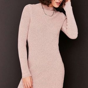 Pink chenille sweater dress
